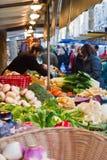 Farmer's market near Le Bon Marche Royalty Free Stock Photos