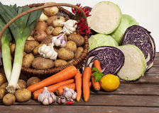 Farmer's Market - Organic Vegetables Stock Photos