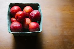 Farmer`s Market Plums royalty free stock images