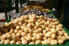 Farmer's Market Potatoes. Potatoes at Farmer's Market in Santa Monica, CA royalty free stock image