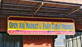 Farmer's Market Produce Sign Royalty Free Stock Photography