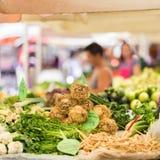 Farmer's market stall. Stock Images
