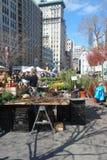 New York City Farmers Market. The farmers market in Union Square, New York Stock Photo