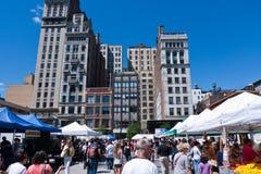 Union Square Park, New York city. Farmer`s market at Union Square Park, New York city, USA, August Royalty Free Stock Photos