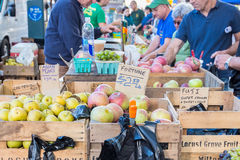 Farmer's market in upper west side in New York City Stock Image