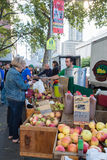 Farmer's market in upper west side in New York City Stock Images