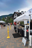 Farmer's market in Vail, Colorado. Vail, Colorado is a popular resort town in the United States. It's known for it's skiing in the winter time, and for abundant Royalty Free Stock Images