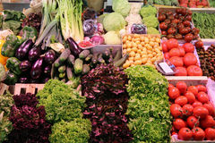 Farmer's Market. Vegetable on Farmer's Market in Barcelona. Spain Stock Photos