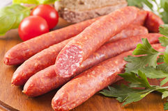 Farmer sausages Stock Photo