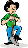 farmer with shovel Royalty Free Stock Photos