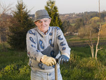 Farmer smiling Royalty Free Stock Photography