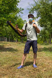 Farmer with a sprayer Stock Image
