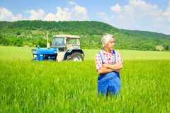 Farmer Standing In A Field Royalty Free Stock Photos