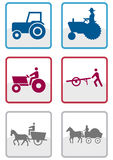 Farmer symbol vector set. Stock Photography