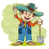 farmer szczęśliwy ilustracja wektor