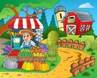 Farmer theme image 8. Eps10 vector illustration Royalty Free Stock Image