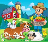 Farmer topic image 6 royalty free illustration