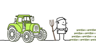 Farmer & tractor Stock Photography
