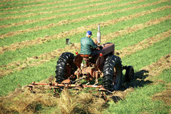 Farmer on tractor Stock Photos