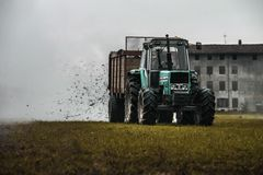 Farmer Tractor Royalty Free Stock Photography