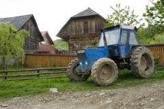 Farmer tractor Botiza Village Romania Stock Photography
