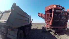 Farmer in tractor preparing land stock video footage