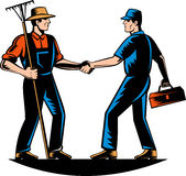 Farmer tradesman,repairman,plumber handym Royalty Free Stock Images