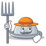 Farmer tray character cartoon style Stock Photography
