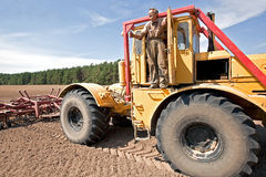 Farmer with truck Royalty Free Stock Photos