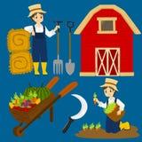 Farmer Vector Collection Royalty Free Stock Photo