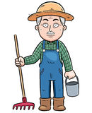 Farmer. Vector illustration of Cartoon Farmer Royalty Free Stock Photo