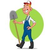 Farmer. Vector illustration. funny rednecks Royalty Free Illustration