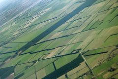 Farmer view. Picture was taken in New Zealand from the air Stock Photo