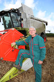 Farmer in wheat field Stock Image