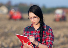 Farmer woman on field Stock Photography