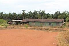 Farmer work house. At Johor Malaysia Royalty Free Stock Image