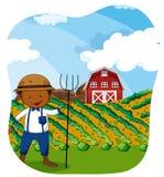 Farmer working in the farmland Royalty Free Stock Photos