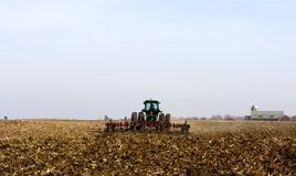 Farmer Working The Field Royalty Free Stock Image