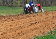 Farmer Plowing Field Stock Images