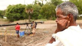 Farmer working in the Fields stock video