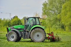 Farmer working on his land Royalty Free Stock Image