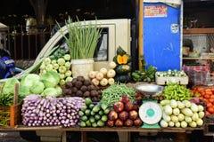 Farmer& x27 ; marché de s de rue de Sri Lanka Photographie stock libre de droits