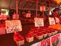 Farmer's Market in New Jersey Stock Images