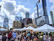 Farmer& x27; s markt in Austin Texas Royalty-vrije Stock Foto's