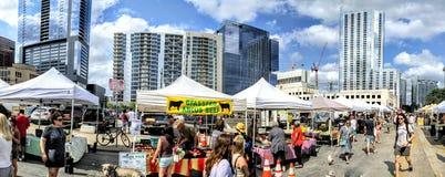 Farmer& x27; s markt in Austin TX Royalty-vrije Stock Foto