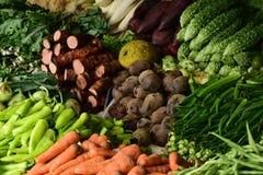Farmer& x27; s markt in Sri Lanka-straat Stock Foto