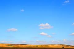 Farmer& x27; s pole krajobrazu rolniczego Obraz Royalty Free