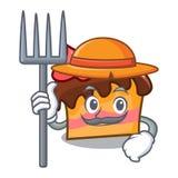 FarmerFarmer sponge cake character cartoon. Farmer sponge cake character cartoon vector illustration Royalty Free Stock Image