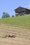 Farmering in Puster-Tal, Österreich Stockfoto