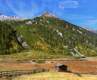 Farmers alpine meadows Stock Photos